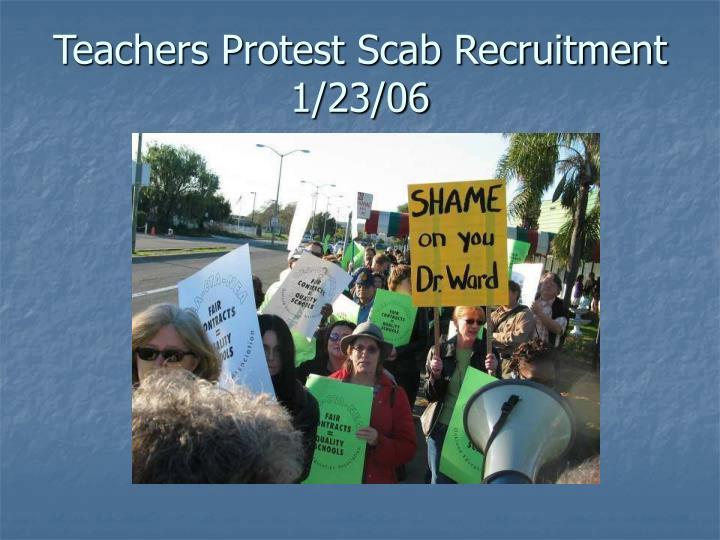 Teachers Protest Scab Recruitment