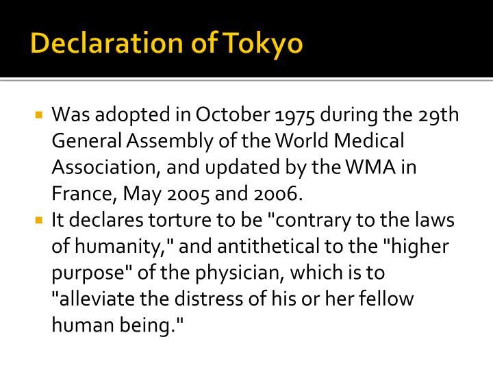 Declaration of Tokyo