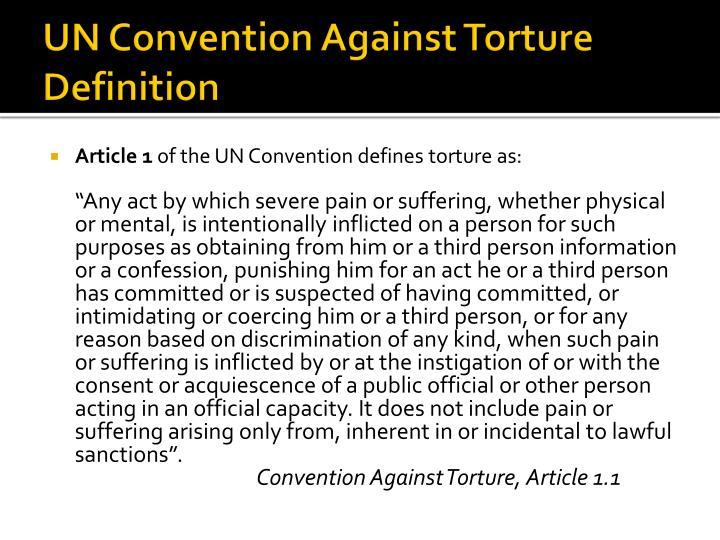 UN Convention Against Torture Definition
