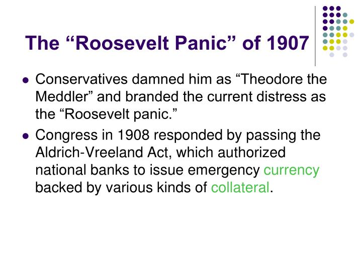 "The ""Roosevelt Panic"" of 1907"
