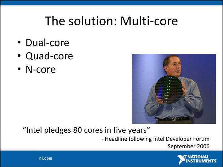 The solution: Multi-core