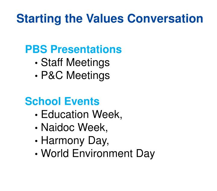 Starting the Values Conversation