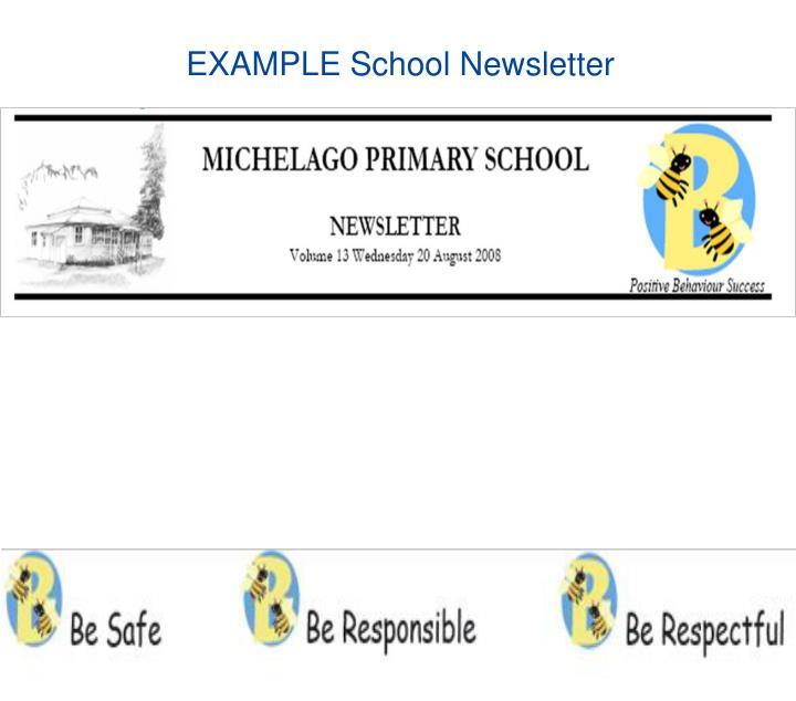 EXAMPLE School Newsletter