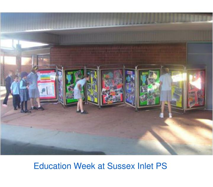 Education Week at Sussex Inlet PS