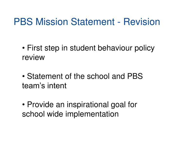 PBS Mission Statement -