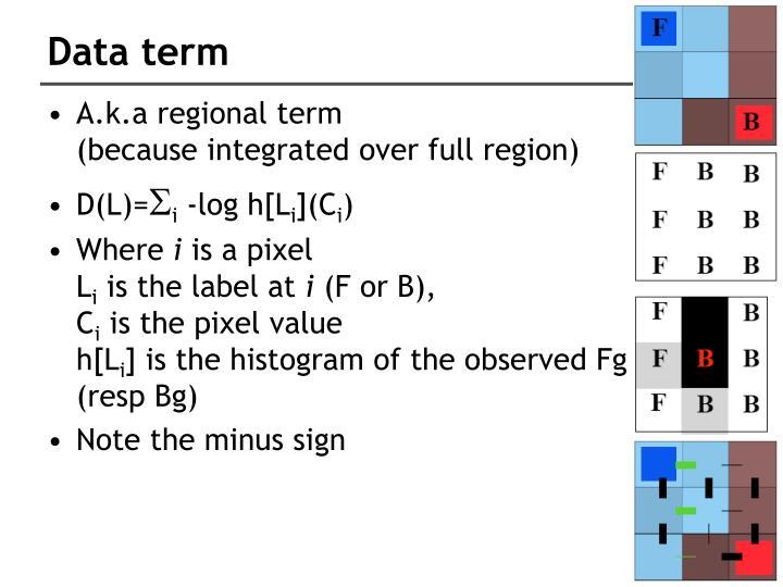 Data term