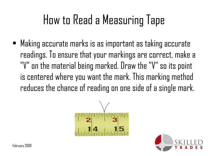 how to read a tape