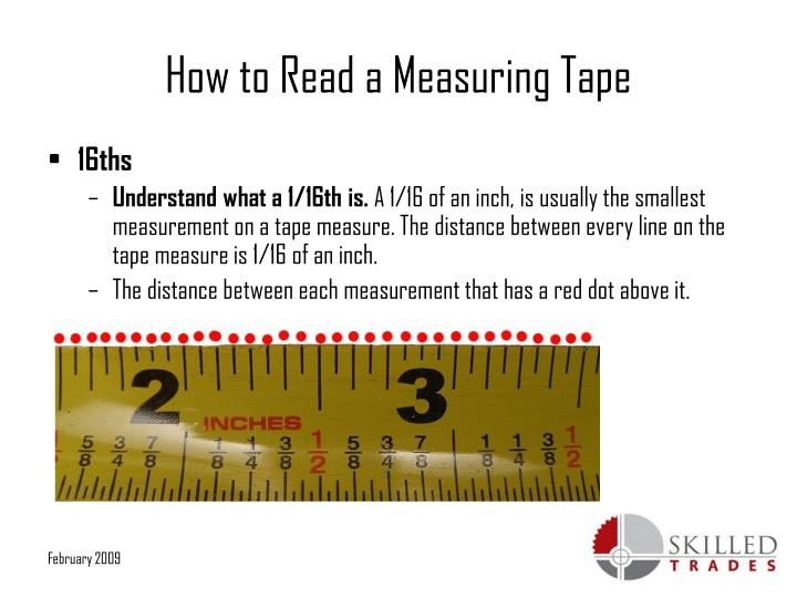 Ppt How To Read A Measuring Tape Powerpoint Presentation