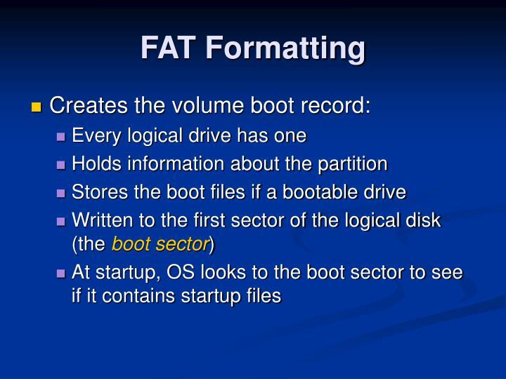 FAT Formatting