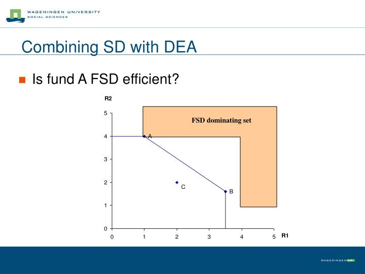 Combining SD with DEA