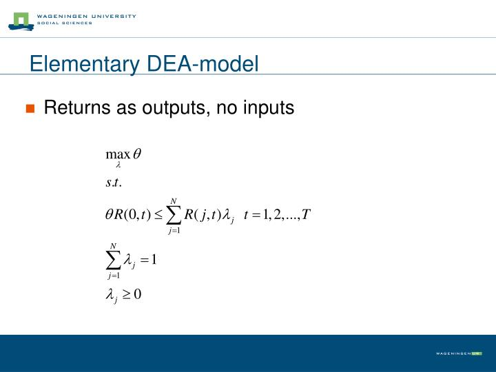 Elementary DEA-model