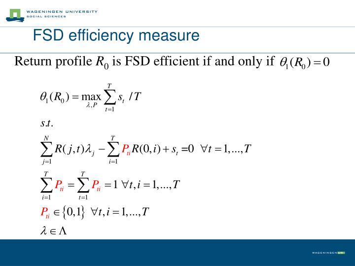 FSD efficiency measure