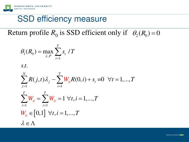 SSD efficiency measure