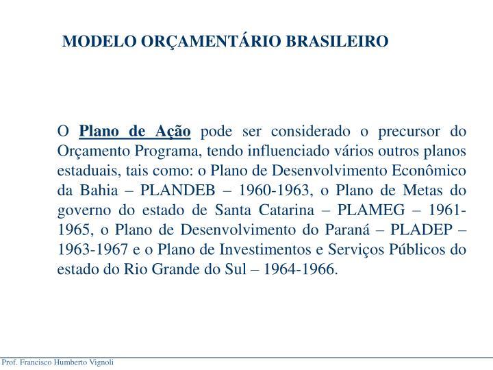 MODELO ORAMENTRIO BRASILEIRO