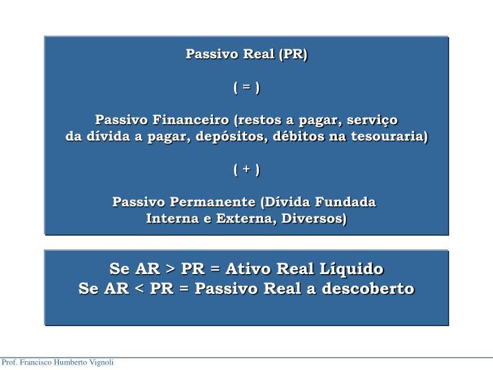 Passivo Real (PR)