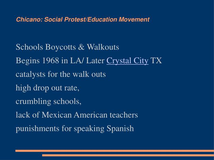 Chicano: Social Protest/Education Movement
