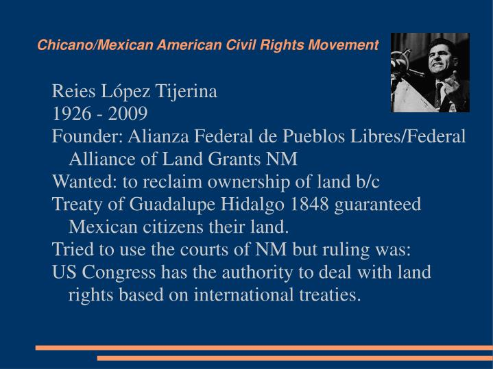 Chicano/Mexican American Civil Rights Movement