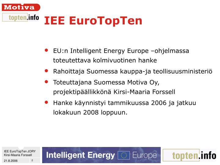 IEE EuroTopTen