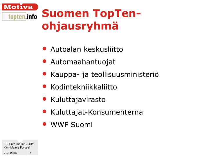 Suomen TopTen-ohjausryhmä