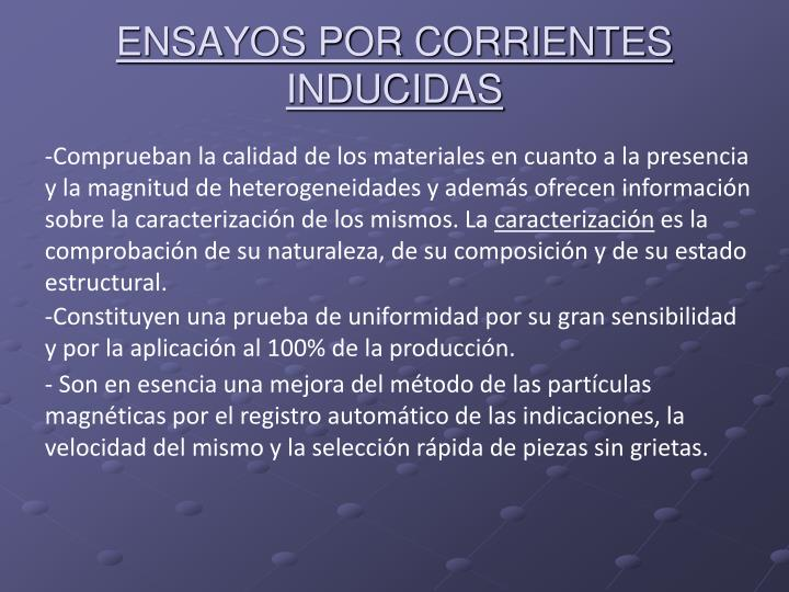 ENSAYOS POR CORRIENTES INDUCIDAS
