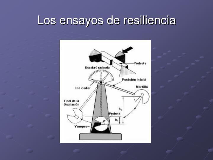 Los ensayos de resiliencia