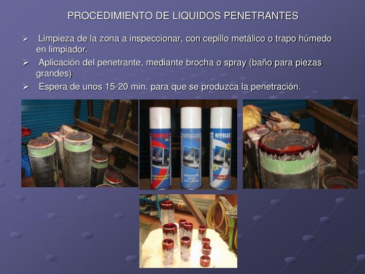 PROCEDIMIENTO DE LIQUIDOS PENETRANTES