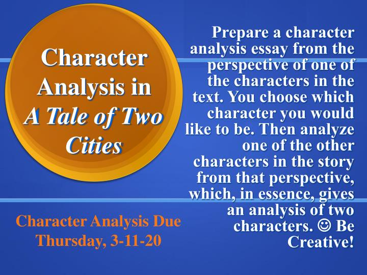 a tale of two cities analytical essay