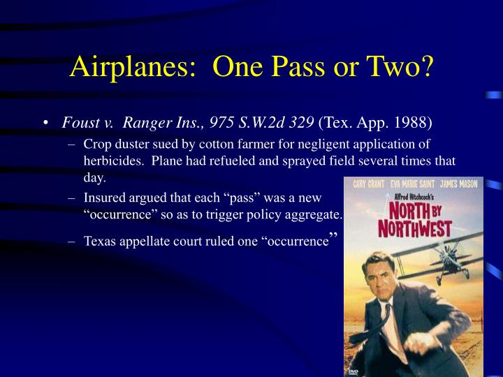 Airplanes:  One Pass or Two?