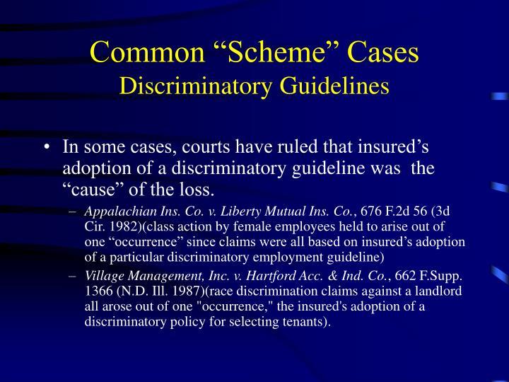 """Common """"Scheme"""" Cases"""