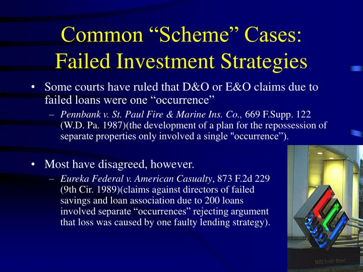 "Common ""Scheme"" Cases:  Failed Investment Strategies"