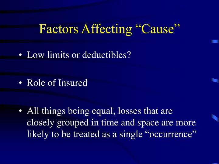 "Factors Affecting ""Cause"""