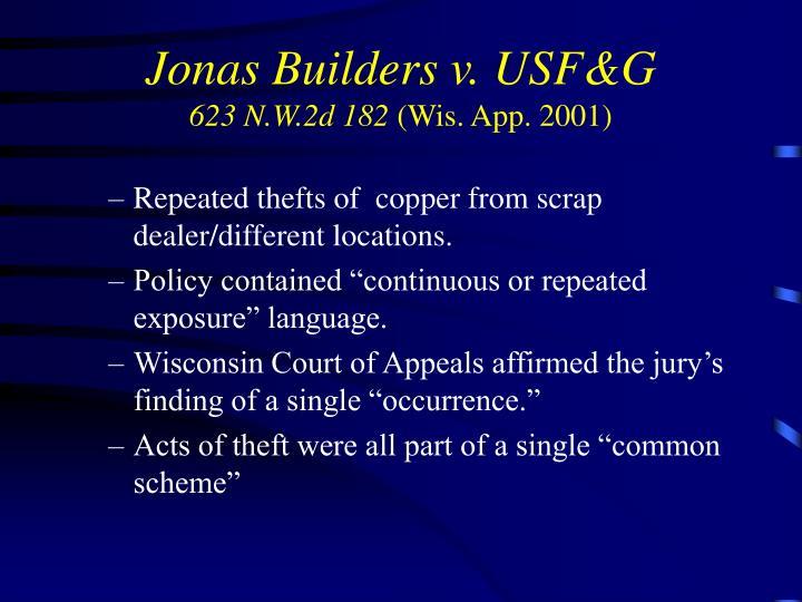 Jonas Builders v. USF&G