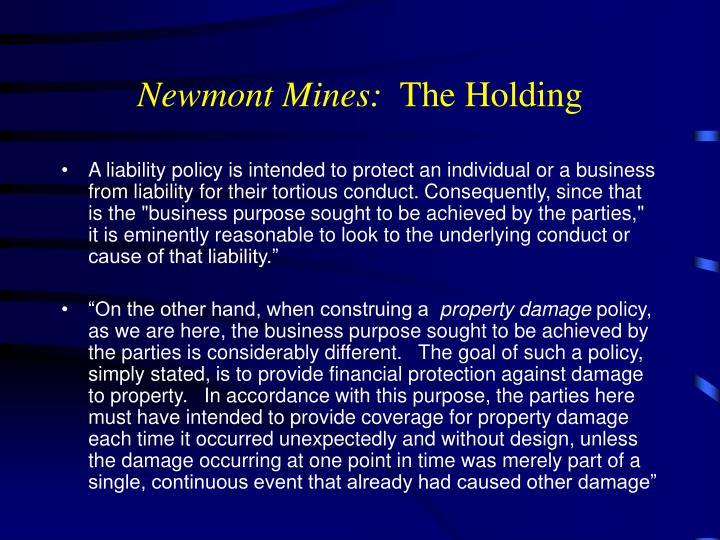 Newmont Mines: