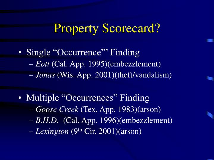 Property Scorecard?