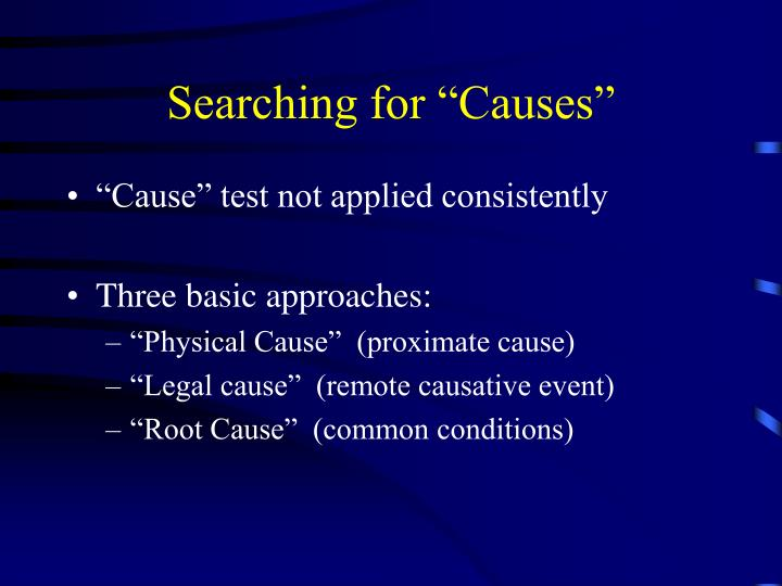 "Searching for ""Causes"""