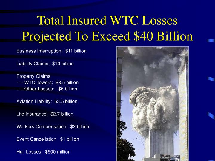Total Insured WTC Losses Projected To Exceed $40 Billion