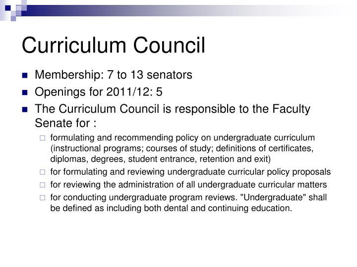 Curriculum Council