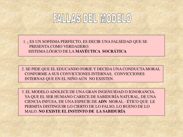 FALLAS DEL MODELO