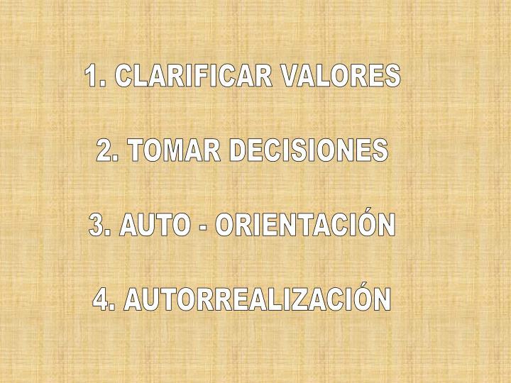 1. CLARIFICAR VALORES