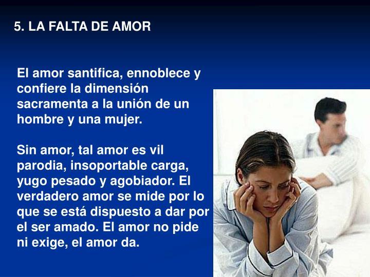 5. LA FALTA DE AMOR