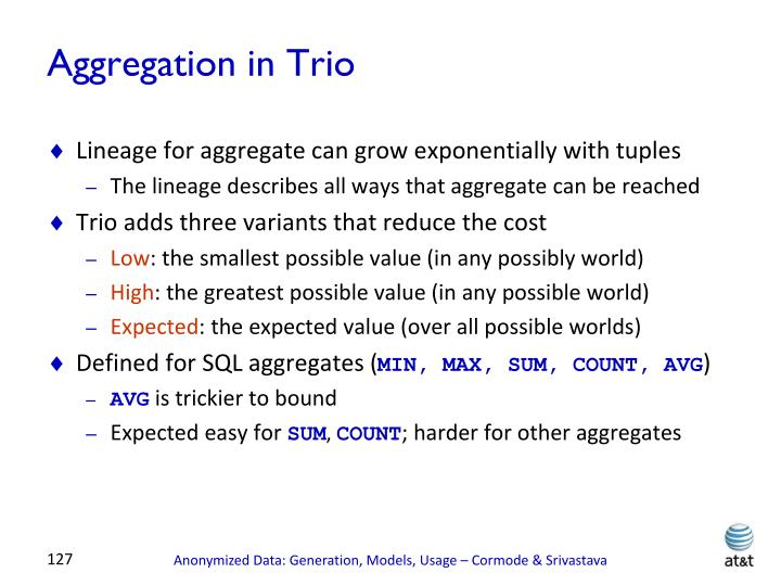 Aggregation in Trio