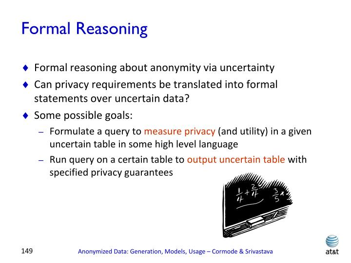 Formal Reasoning