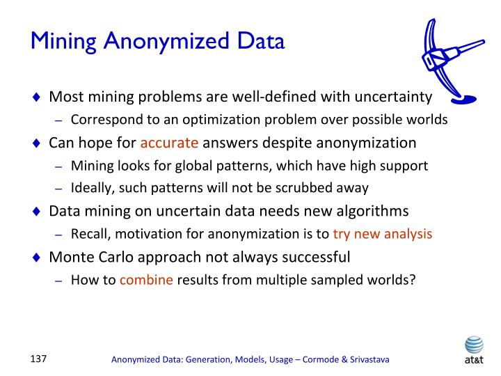 Mining Anonymized Data
