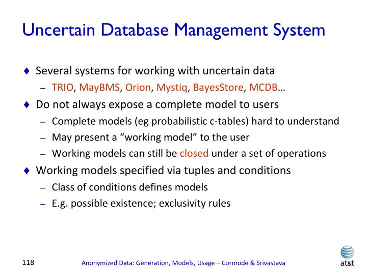 Uncertain Database Management System