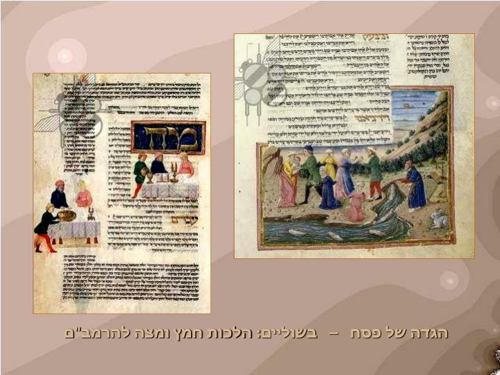 """הגדה של פסח   –   בשוליים: הלכות חמץ ומצה להרמב""""ם"""
