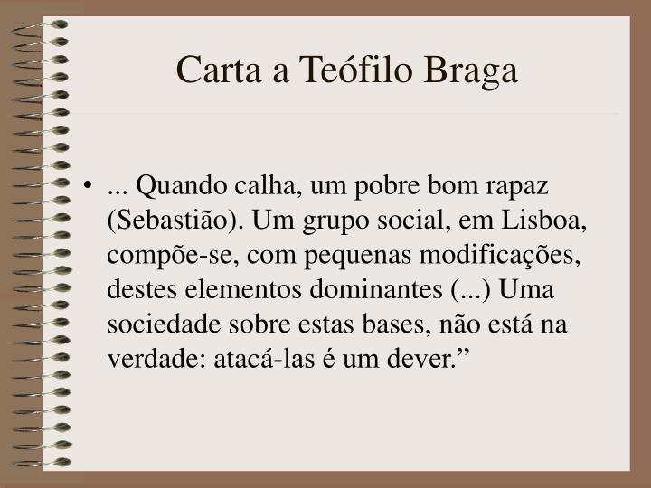 Carta a Tefilo Braga