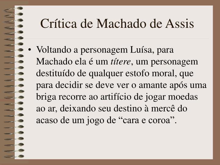 Crtica de Machado de Assis