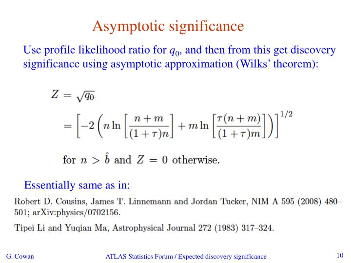 Asymptotic significance