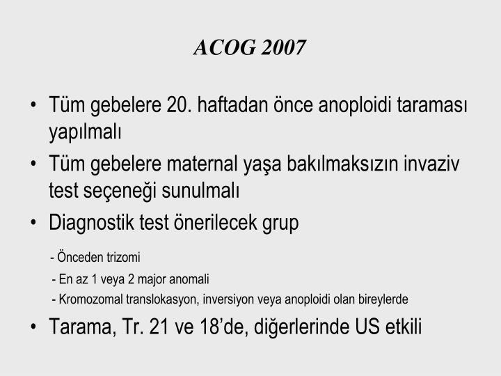 ACOG 2007