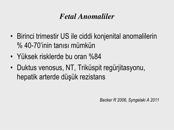 Fetal Anomaliler